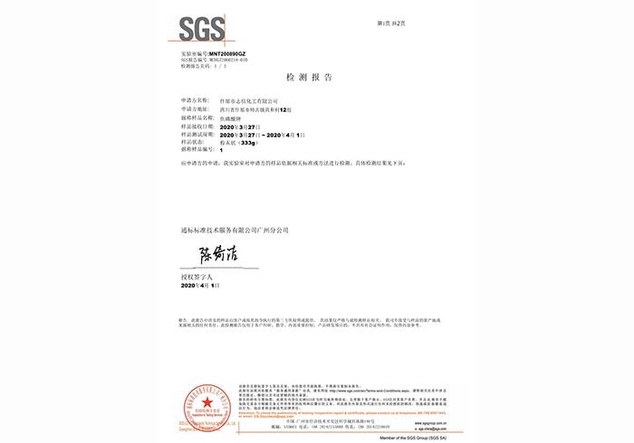 SGS检查报告